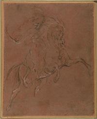 « le portrait équestre de m. d.*** [dieudonné] (salon de 1812) », dit aussi « un hussard chargeant (salon de 1814) » by théodore géricault